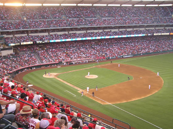Angels Stadium from the 1st base side