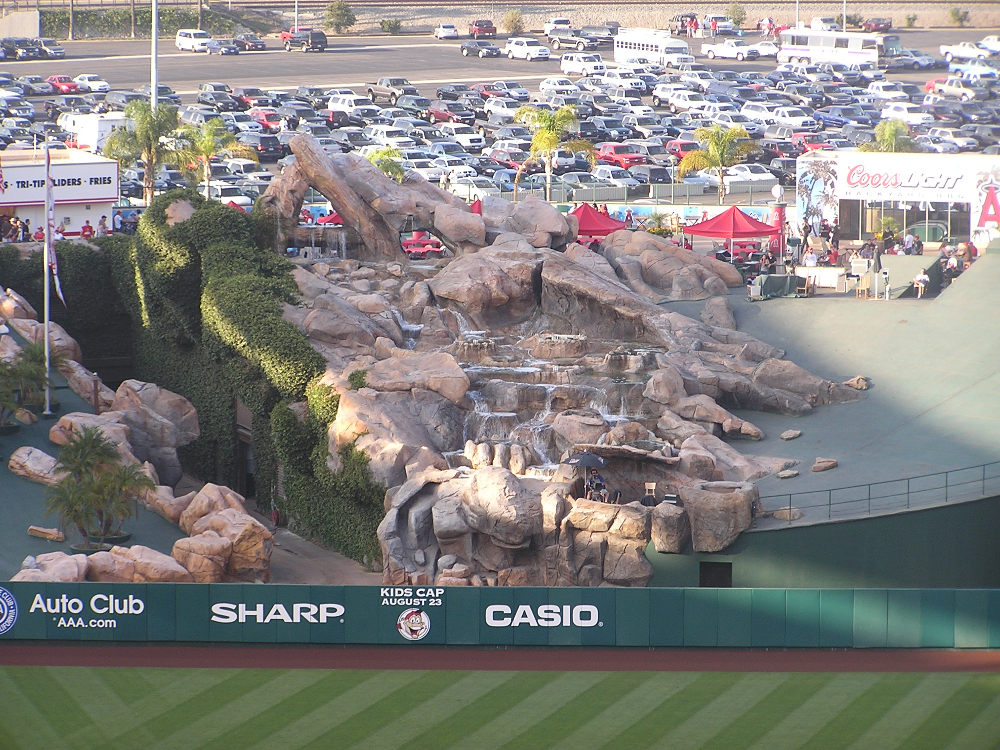 The Rock pile at Angel Stadium of Anaheim