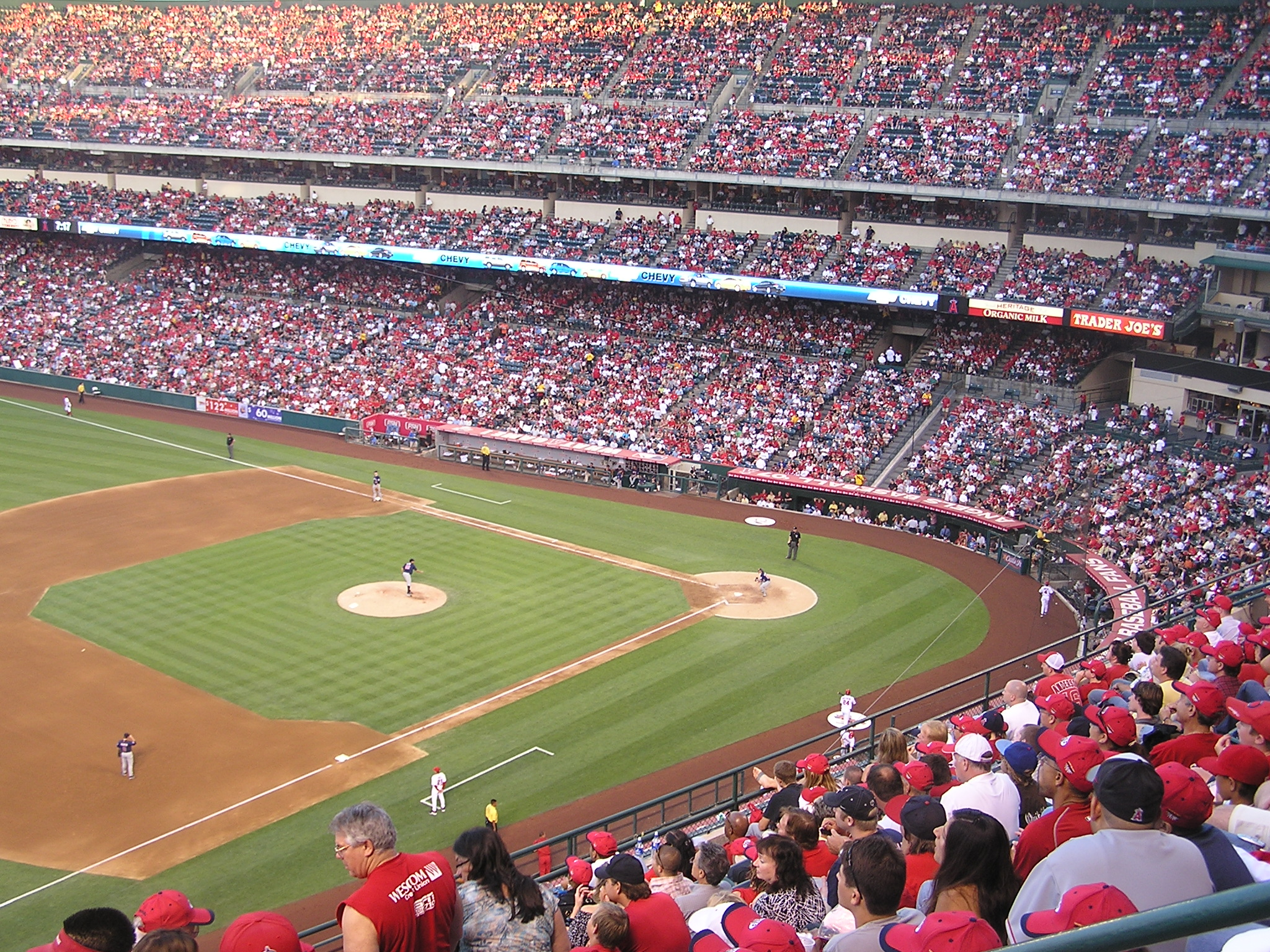 Angels Stadium from the 3rd base side